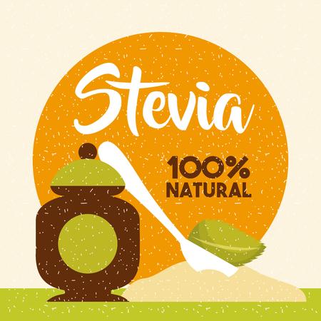 Stevia natural sweetener icon vector illustration design graphic Ilustração