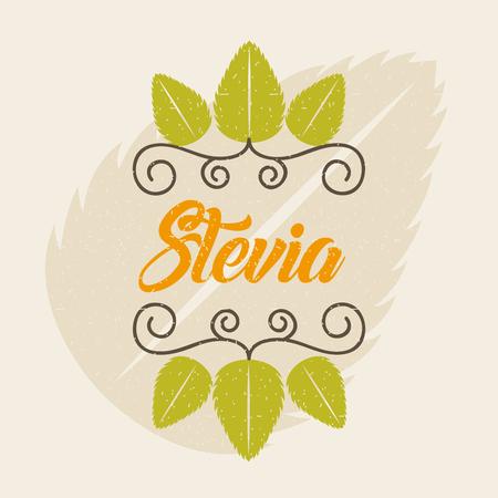 Stevia edulcorante natural icono ilustración vectorial diseño gráfico Foto de archivo - 82559487