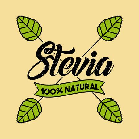 Stevia natural sweetener icon vector illustration design graphic Illustration