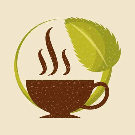 커피 스테비아 천연 감미료 아이콘 벡터 일러스트 레이 션 디자인 그래픽