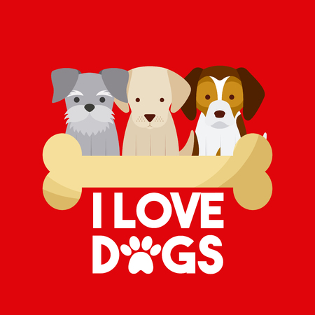 i love dog life icon vector illustration design graphic
