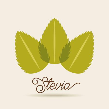 Stevia edulcorante natural icono ilustración vectorial diseño gráfico Foto de archivo - 82559160