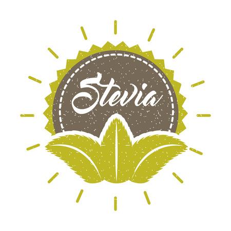 Natürliche Süßstoffikonenvektorillustrations-Designgraphik Stevia