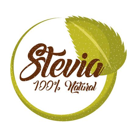 스테비아 천연 감미료 아이콘 벡터 일러스트 디자인 그래픽