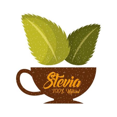 coffee Stevia natural sweetener icon vector illustration design graphic Imagens - 82577994