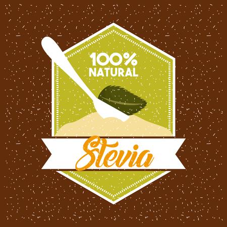 Stevia edulcorante natural icono ilustración vectorial diseño gráfico Foto de archivo - 82577993
