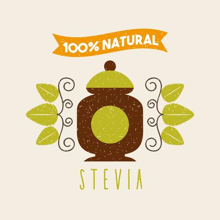 コーヒー ステビア天然甘味料のアイコン ベクトル イラスト デザイン グラフィック  イラスト・ベクター素材