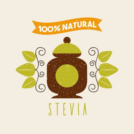 coffee Stevia natural sweetener icon vector illustration design graphic Imagens - 82560314