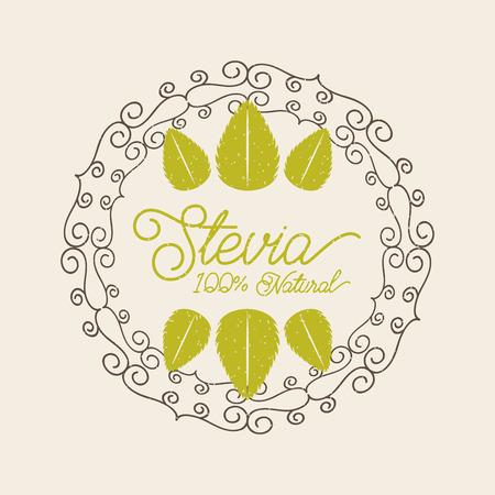 식물 stevia 천연 감미료 아이콘 벡터 일러스트 디자인 그래픽 일러스트