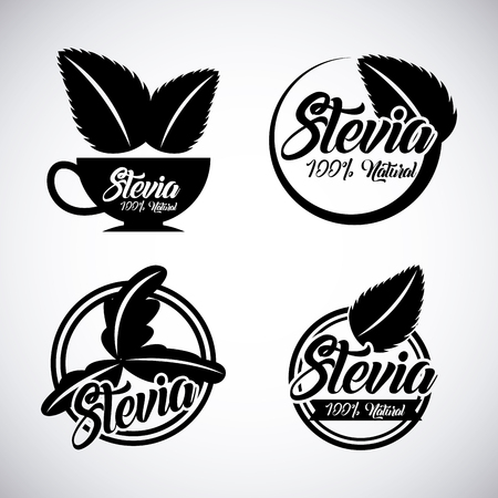 plant stevia natural sweetener icon vector illustration design graphic Banco de Imagens - 82559152