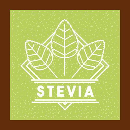 Stevia edulcorante natural icono ilustración vectorial diseño gráfico Foto de archivo - 82560311