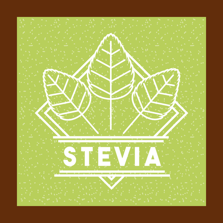 Stevia natural sweetener icon vector illustration design graphic Ilustrace