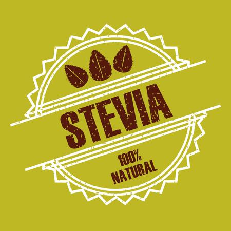 Stevia edulcorante natural icono ilustración vectorial diseño gráfico Foto de archivo - 82559146