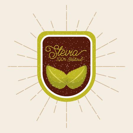 植物ステビア天然甘味料のアイコン ベクトル イラスト デザイン グラフィック