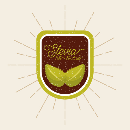 plant stevia natural sweetener icon vector illustration design graphic Banco de Imagens - 82559143