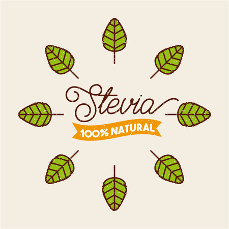 plant stevia natural sweetener icon vector illustration design graphic