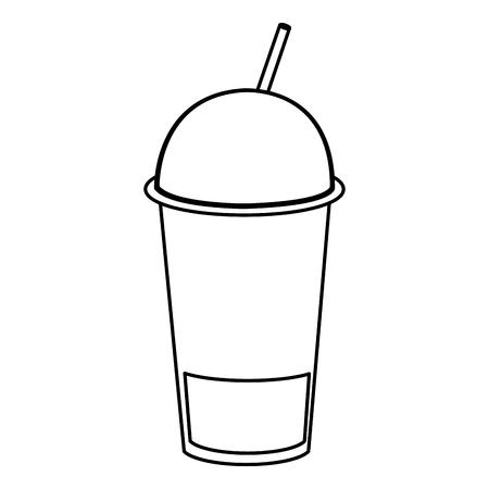 coffee shake with straw vector illustration design
