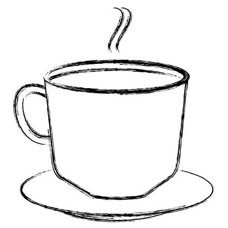 koffiekopje met schotel vectorillustratie ontwerp Stock Illustratie