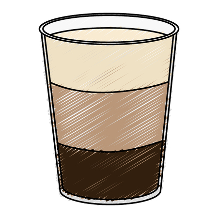 Coffee shake fresh icon vector illustration design