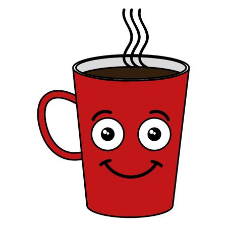 Coffee mug kawaii character vector illustration design Illusztráció