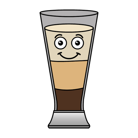 Coffee shake fresh kawaii character vector illustration design 向量圖像