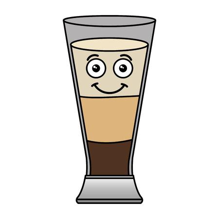 Ontwerp van de het karakter vectorillustratie van de koffieschok het verse kawaii