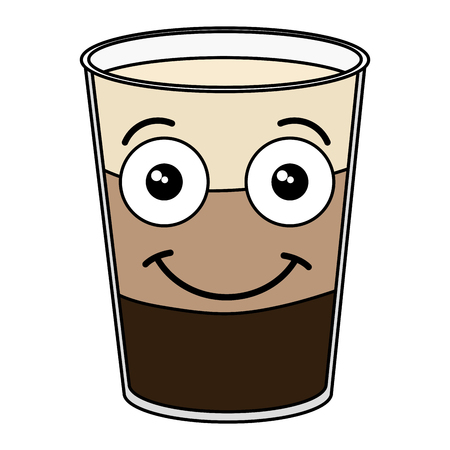 Coffee shake fresh kawaii character vector illustration design Иллюстрация