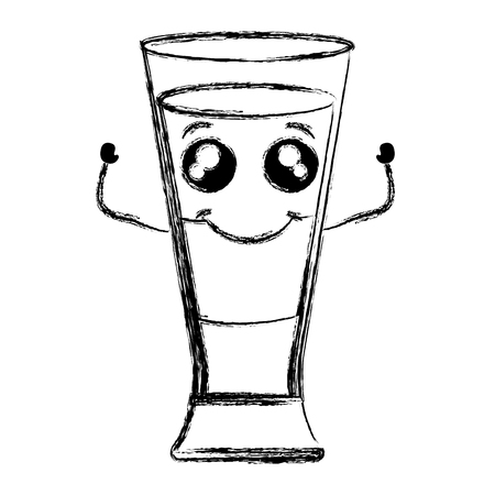 Coffee shake fresh kawaii character vector illustration design Illustration