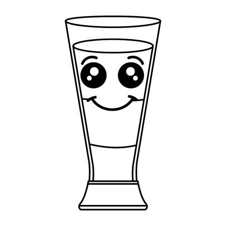 coffee shake fresh kawaii character vector illustration design