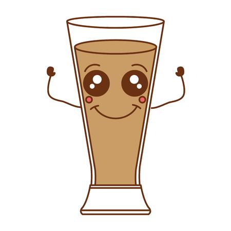 Kaffee schütteln frische kawaii Charakter Vektor-Illustration Design Standard-Bild - 82558763
