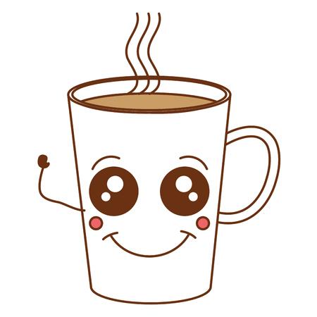 Coffee mug kawaii character vector illustration design Illustration