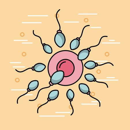 Female fertilization process icon vector illustration design graphic