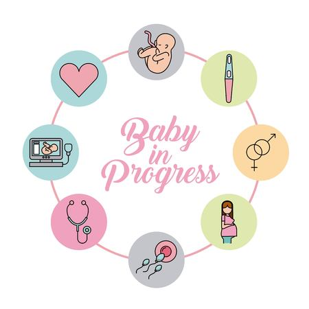baby in progress healthy icon vector illustration design graphic