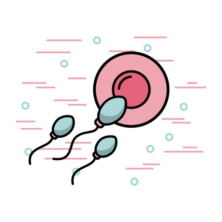 Female fertilization process icon vector illustration design graphic.