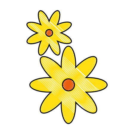 flowers icon over white background vector illustration