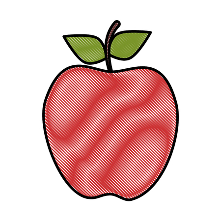 apple fruit icon over white background vector illustration Illustration