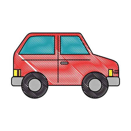 red car icon over white background vector illustration Illustration