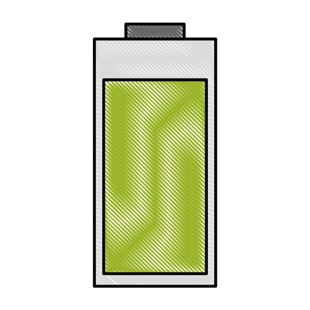 battery icon over white background vector illustration