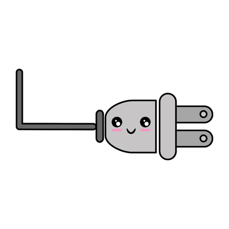 electric plug icon  over white background vector illustration Illusztráció