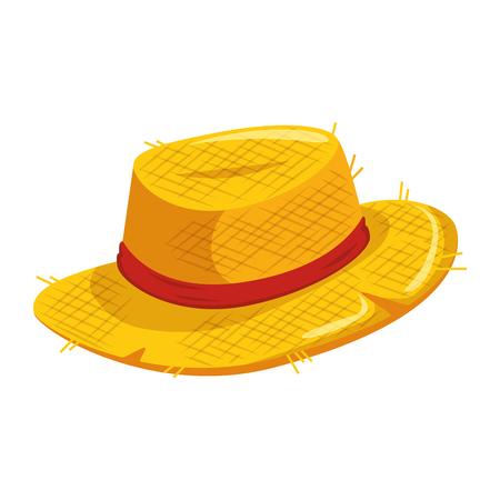A hat icon over white background vector illustration.