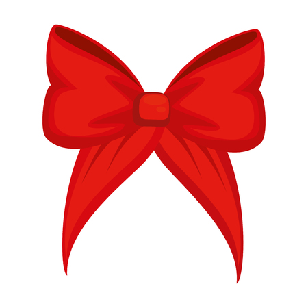 A bow icon over white background vector illustration.