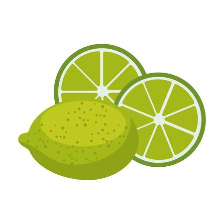 白い背景のベクトル図をレモンの酸味のある果実アイコン。