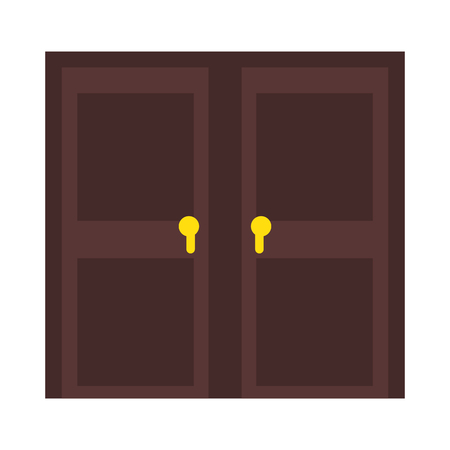 deur pictogram over witte achtergrond vectorillustratie Stock Illustratie