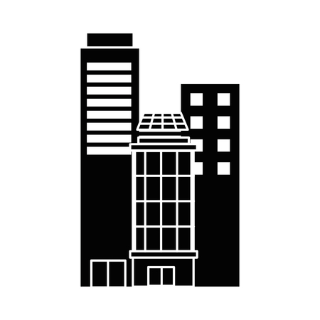 City buildings icon vector illustration