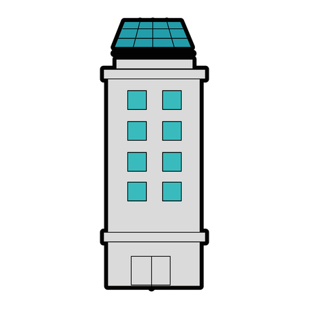A city building icon over white background vector illustration. Иллюстрация
