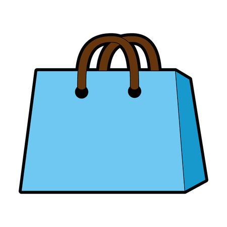 Shopping bag icon over white background vector illustration Stock Vector - 82562350