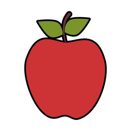 Apple-fruitpictogram over witte vectorillustratie als achtergrond