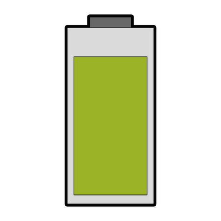 Batterie icône sur fond blanc illustration vectorielle Banque d'images - 82562535