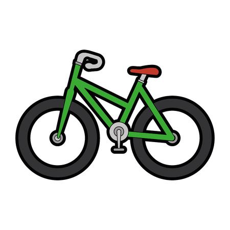 白い背景ベクトルの上の自転車アイコン