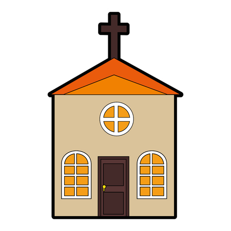 church icon over white background vector illustration Stok Fotoğraf - 82562582